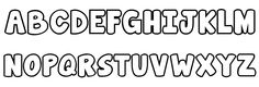 Great for coloring the letters or making sight words to color !!! Janda Manatee Bubble Font UPPERCASE
