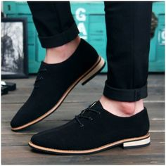 b2ac282d69a Men Oxford Shoes 2017 sping/autumn New Suede Genuine Leather Men's Flat  Oxford Casual Shoes Men Flats Loafers zapatos hombre Autumn - On Trends  Avenue