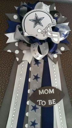Small Dallas Cowboys Mum For Mother To Be By LCDecorations On Etsy · Baby  Shower ...