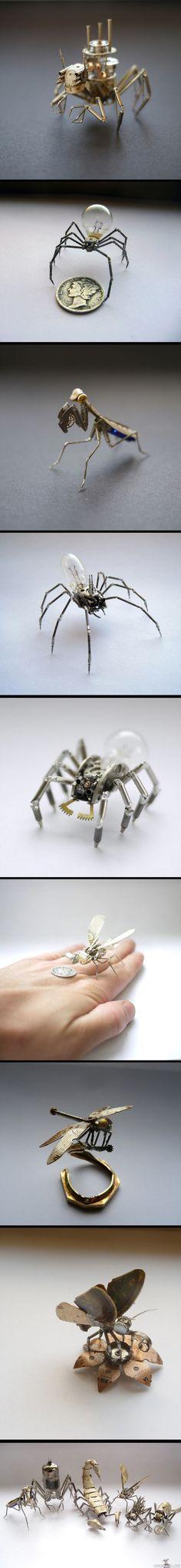 Kellonosista rakennettuja hyönteisiä