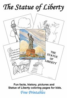 How tall is the Statue of Liberty and why is it green? ... Fun facts, history, pictures and Statue of Liberty coloring pages for kids.