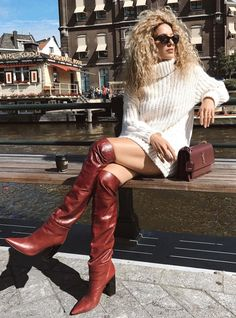 Camel Boots, Brown Boots, Leather Boots, Blond, Sexy Heels, Over The Knee Boots, High Boots, Fashion Boots, Heeled Boots