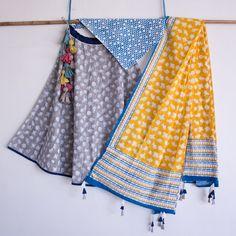 just scarf-ing Wedding Gown floral wedding gown Floral Wedding Gown, Gown Wedding, Chania Choli, Girls Dresses Sewing, Half Saree, Indian Designer Wear, Indian Girls, Indian Dresses, Sustainable Fashion