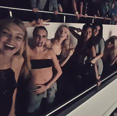 """""""YE IN PARIS!!!!!"""" --Gigi Hadid, who posted this photo of herself enjoying Kanye West's concert with Cara Delevingne, Kendall Jenner and more friends on Instagram in March 2015Sign up for Wonderwall's newsletter"""