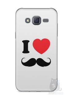 Capa Capinha Samsung J5 I Love Bigode #1 - SmartCases - Acessórios para celulares e tablets :)