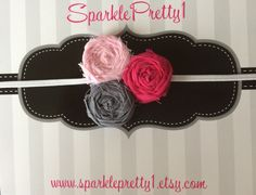 A personal favorite from my Etsy shop https://www.etsy.com/listing/234021757/raspberry-pink-and-grey-rosette-elastic