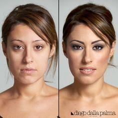 Before and after by diego dalla palma milano #motd #beforeandafter #makeup #beauty #cosmetics #vivianaveglia #mua