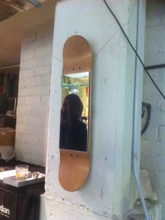 Skate mirror honey color by skate-home. Reflects a lifestyle.