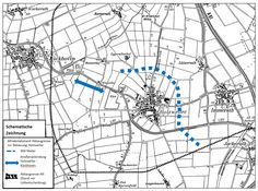 Grafik: Land NRW - Abb. Tagebau Garzweiler II, Schematische Zeichnung (nicht maßstäblich), zum Entscheidungssatz 3
