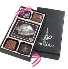 """Et si vos clients """"croquaient"""" votre logo ? Visibilité maximale assurée !  Une innovation unique de l'artisan chocolatier Paris CHOCOLAT. Pour en savoir plus : http://www.gifting.fr/conciergerie.php"""
