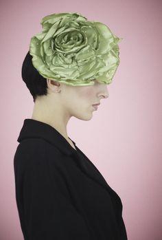 fumbalinas - SS14 green silk headpiece #beyonce #wedding #romantic #statement #silk #vintage