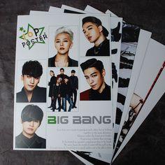 K-POP BIGBANG 10 Posters BIGBANG Collection Bromide (10PCS)  A4 SIZE  NEW