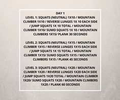Day 1 – 30 Day Squat Challenge & Lower Body Blast! Finally the wait is over – Check out to the 30 dally challenge program for Day 1. WARM UP – 2-5 mins of Step-Ups, Skipping, Brisk Walking, Jogging or cardio of your choice. Choose one of the levels that will best suit your ability …