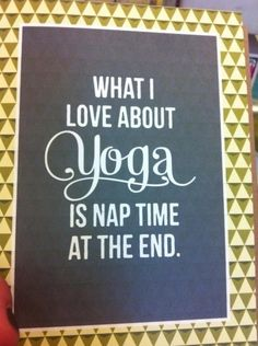 Yoga Funnies: What I Love About Yoga. From the new Downdog Diary Yoga Blog found exclusively at DownDog Boutique. DownDog Diary brings together yoga stories from around the web on Yoga Lifestyle... Read more at DownDog Diary