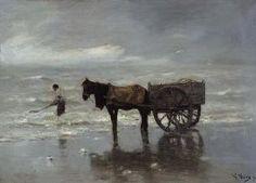 Anton Mauve - Pferdekarren am Strand (Tangsammeln)