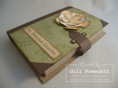 Stampin Up - vintage book box and cards