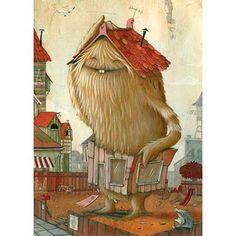 Zozoville Gallery – the artwork of Mateo Dineen and Johan Potma Monster Art, Creepy Monster, Art And Illustration, Monster Illustration, Cute Monsters, Little Monsters, Fantasy Kunst, Fantasy Art, Art Mignon