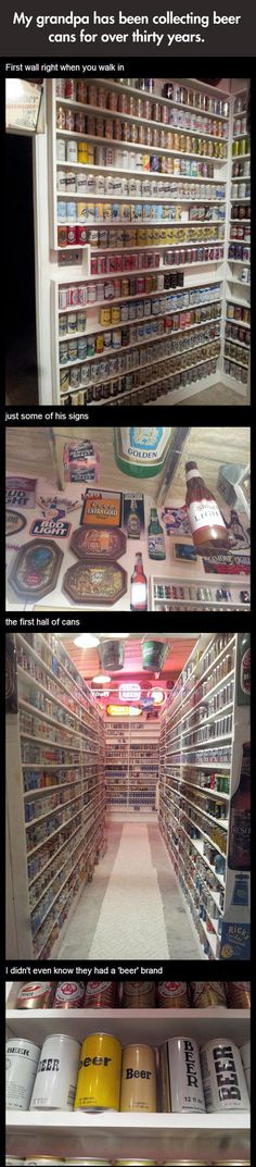 Funny pictures about Epic beer cans collection. Oh, and cool pics about Epic beer cans collection. Also, Epic beer cans collection. Brewery Decor, Vintage Beer Signs, Beer Can Collection, Old Beer Cans, Beer Humor, Funky Junk, Best Beer, Beer Lovers, Home Brewing