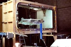 Filming the Millennium falcon entering the Death Star