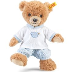 Steiff Blue Sleep Well Bear The Sleep well bears are Steiffs original and most popular baby range. They have worked hard to produce a wonderful soft fur to go against baby soft skin. This bear is suitable from birth, and in neut http://www.MightGet.com/may-2017-1/steiff-blue-sleep-well-bear.asp