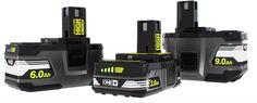 Ryobi 18V High Energy Battery Packs