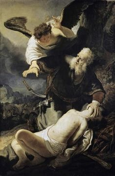 The Sacrifice Of Isaac by Rembrandt Van Rijn