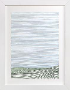 Stripe Landscape: Green Hills limited edition print by Jorey Hurley (Minted.com)