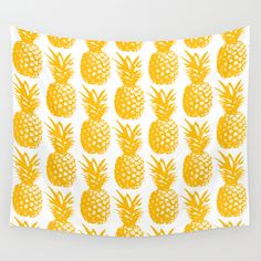 Buy Pineapple Brunch  by JuniqueStudio as a high quality Wall Tapestry. Worldwide shipping available at Society6.com. Just one of millions of products available.
