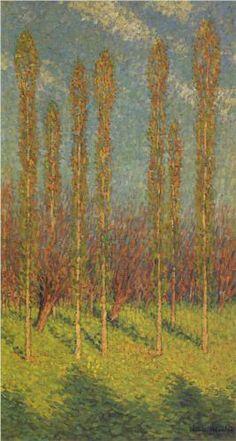 Poplars in Spring - Henri Martin