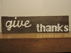 give thanks wood pallet sign custom hand by MittenGirlzDesigns