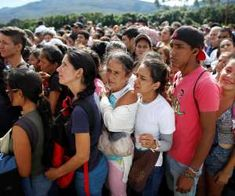 Venezuelans wait in line to cross into Colombia through the Simon Bolivar bridge… World Peace, Oppression, Weekend Is Over, The Row, Two By Two, Photo And Video, Couple Photos, News, People