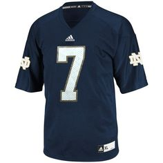 edea8ff64 NCAA adidas Notre Dame Fighting Irish  1 Replica Football Jersey - Navy  Blue Notre Dame