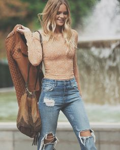Fashion 101, Fashion Outfits, Rocker Chick, Kate Middleton, My Girl, Preppy, Mom Jeans, Look, Chile
