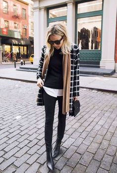 Would Combine With Any Piece Of Clothes. 57 Chic Casual Style Looks That Make You Look Cool – Outstanding Street Fashion Outfit. Would Combine With Any Piece Of Clothes. Fashion Mode, Work Fashion, Street Fashion, Womens Fashion, Office Fashion, Fashion Trends, Ladies Fashion, Fashion Stores, Fashion Black