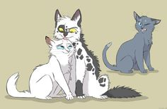 """Snowfur- You can't change my future! Bluefur- Oh yes I can......stay away from that """"monster""""!"""