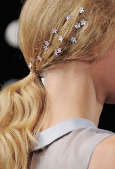 Dreamy flower bobby pins at Honor Spring/Summer 2014