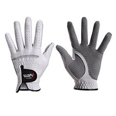 Men's Compression-Fit Stable-Grip Golf Glove, Super Soft, Flexible, Wear Resistant and Comfortable, White