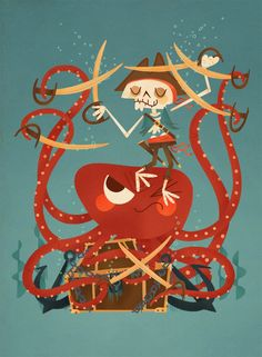 Cool! Pirates and octopus and swords! This is by the famous @Andrew Kolb kolbisneat.com