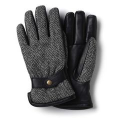 Harris Tweed& Glove by Allen Edmonds Mens Gloves, Leather Gloves, Allen Edmonds, Harris Tweed, Pairs, Black And White, My Style, How To Wear, Shopping