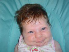 Tiranna... furbi sorrisi già ad un mese...