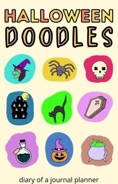 Try these 11 easy Halloween doodles for your Halloween-themed bullet journal spreads! #halloween #doodles Happy Doodles, Free Doodles, Simple Doodles, Halloween Doodle, Cute Halloween, Halloween Themes, Amazing Halloween Costumes, Spirit Halloween, Haunted House Drawing