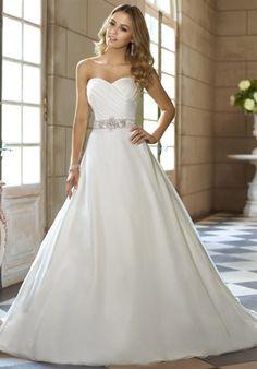soft organza wedding gown