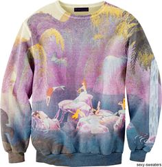 Mermaid lagoon sweater Peter Pan. I would rock the hell out of this sweater!