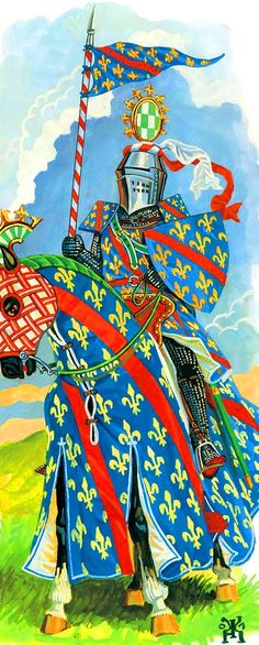 A royal French knight, Hundred Years War
