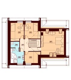 Rzut DN NOELIA MODERN 2M CE Floor Plans, How To Plan, Modern, House, Country Houses, Trendy Tree, Home, Homes, Floor Plan Drawing