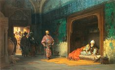 """"""" Sultan Bayezid Imprisoned by Timur painting by Stanisław Chlebowski Bayezid I was sultan of the Ottoman Empire; he was defeated and captured by Timur's army at the Battle of Ankara on July He died in captivity. Classical Art, Art Gallery, Classic Art, Art Painting, History Painting, Bayezid I, Painting, Ottoman Empire, Art Wallpaper"""