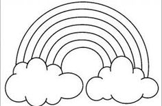 Rainbow coloring pages with color words free coloring - Arcobaleno da colorare stampabili ...