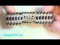 ダブルスパイラルロープの編み方 ピアスの作り方 Stitches Double Spiral Rope DIY - YouTube