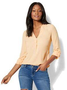 Shop Soho Soft Shirt - Split-Neck. Find your perfect size online at the best price at New York