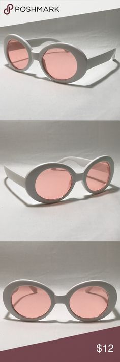 2d4633d94f Pink Lens Clout Goggles ☑ 1 Pair of Clout Goggles ▫️White Frame ▫️Pink  Lenses ▫️Vintage UV Protection ▫️High Quality ▫️Men